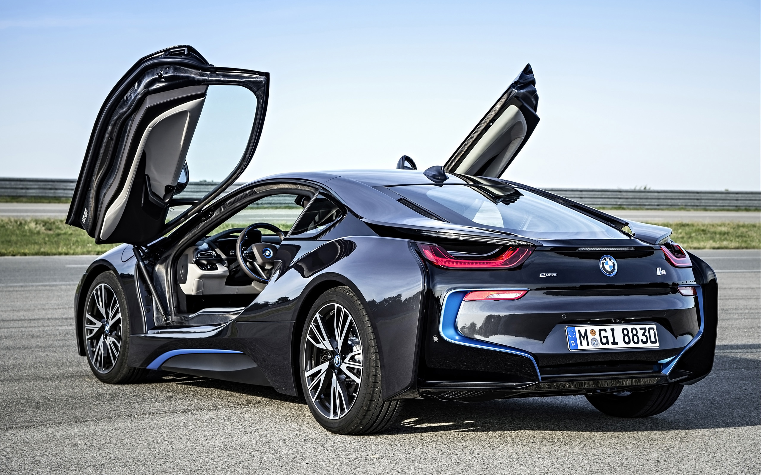 Black Sports Car 2017 Bmw I8 Wallpaper